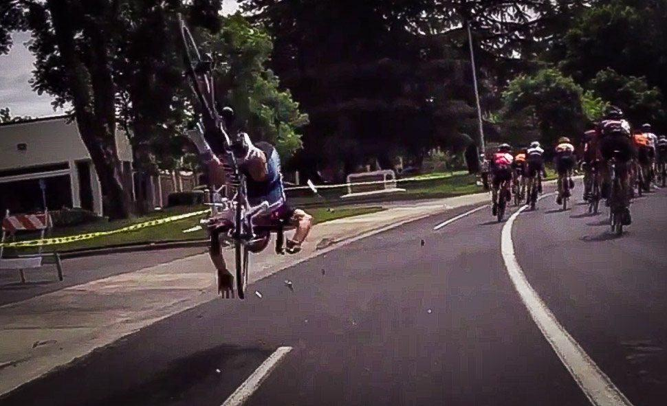 Drone in the spokes (from YouTube, © Kaito Clarke)