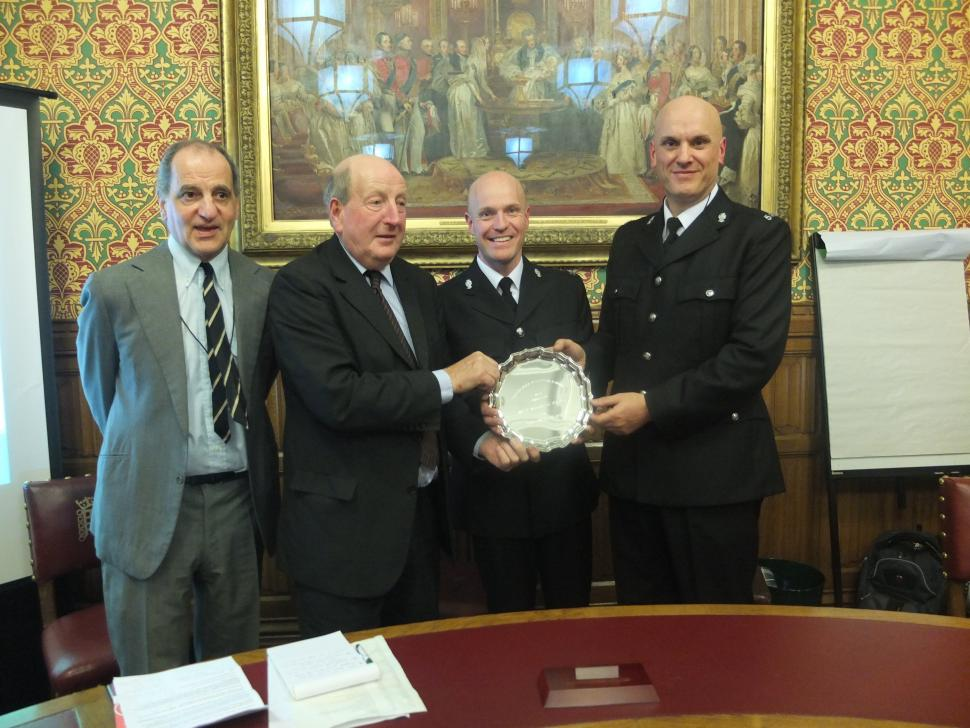 West Midlands Police given award for Give Space, Be Safe (image courtesy of Road Danger Reduction Forum)