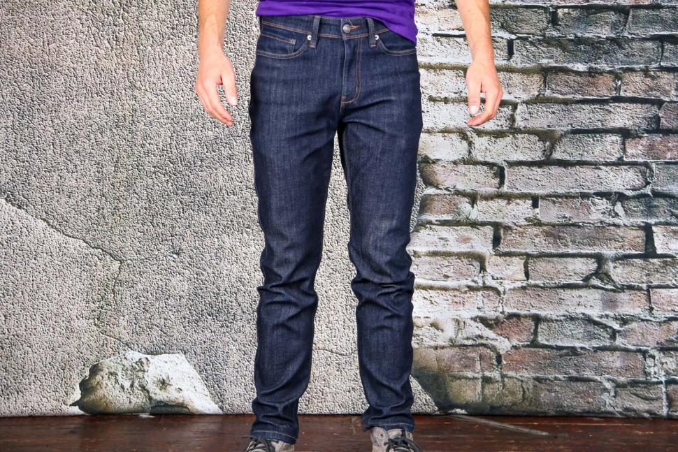 DUER Stay Dry Denim Relaxed cycling jeans - front.jpg