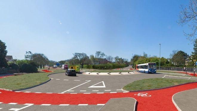 Dutch-style roundabout, Cambridge (picture via Cambridgeshire County Council)