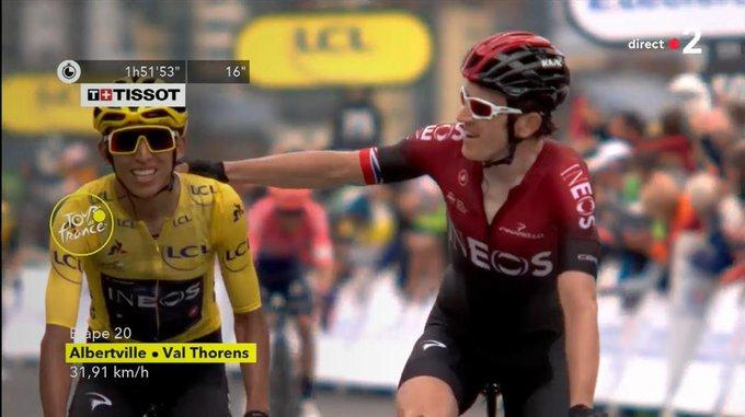 Egan Bernal and Geraint Thomas