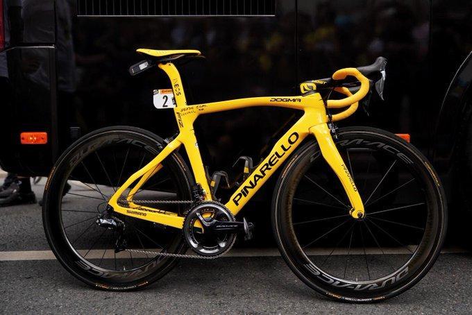 Egan Bernal's Tour de France Stage 21 bike (via Team Ineos on Twitter)