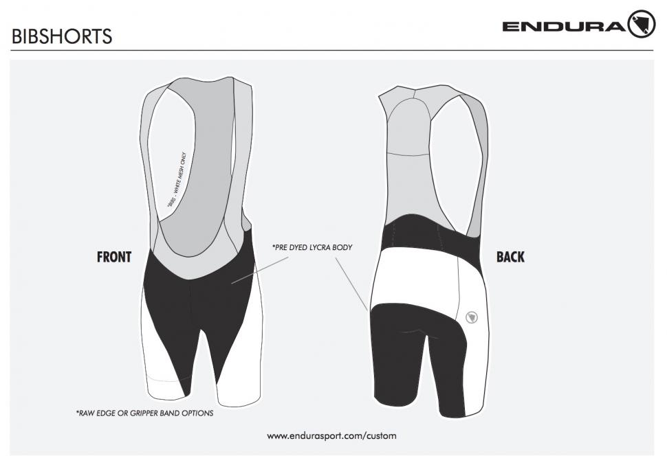 Endura shorts template
