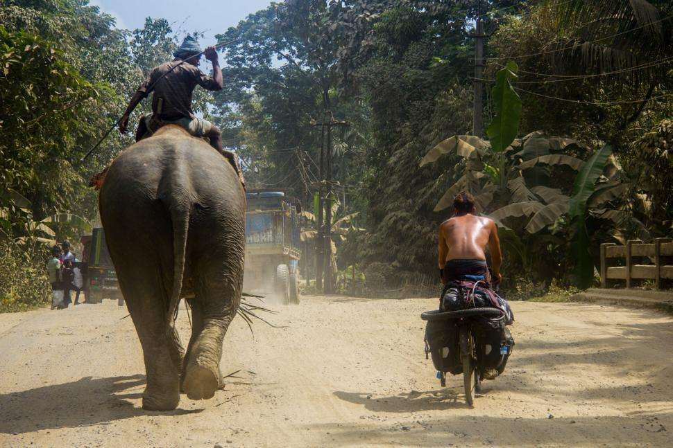 escape_by_bike_-_pete_rides_up_alongside_a_work_elephant_-_to_the_surprise_of_its_rider_-_in_northeast_india_c_joshua_cunningham_2018.jpg