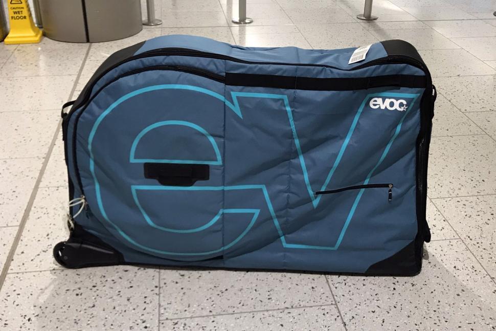 Evoc Bike Travel Bag and stand - airport 1.jpg