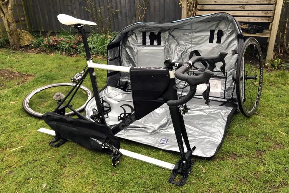 Evoc Bike Travel Bag and stand - packing 2.jpg