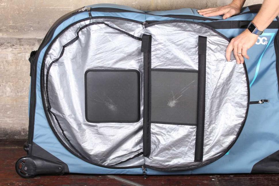 Evoc Bike Travel Bag and stand - wheel compartment.jpg