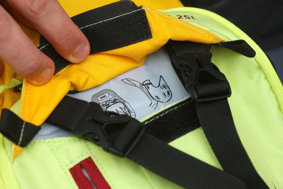 Evoc Glade Daypack 25L - helmet holder detail.jpg