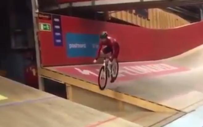 Falon, Sweden velodrome crash (via Twitter).PNG