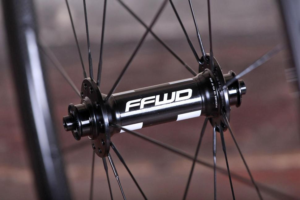 Fast Foward F3R Full Carbon Clincher Wheelset - front hub.jpg