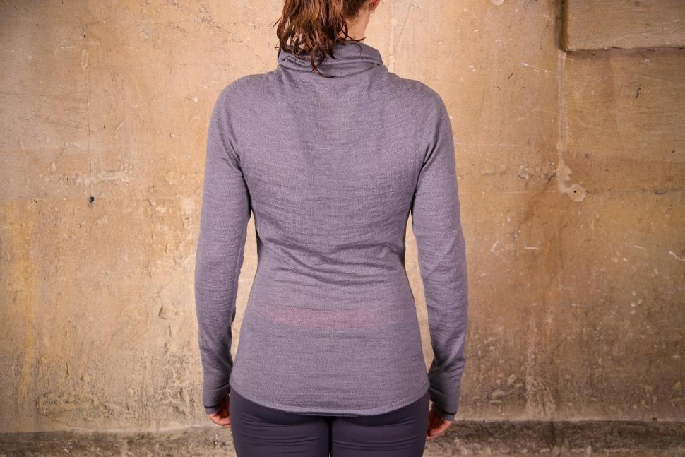 Findra Caddon Merino Wool Cycling Jersey in Slate Grey - back.jpg