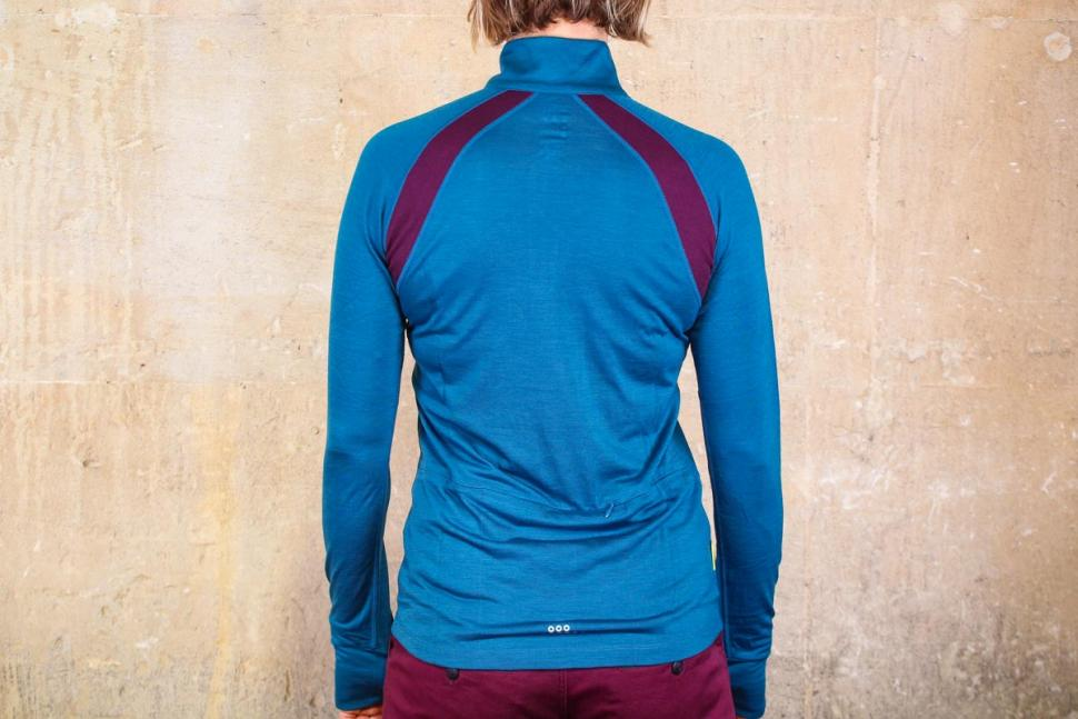 Findra Iona Merino-Lite Zip Neck Top - back.jpg