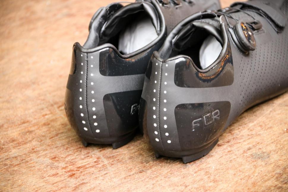 FLR F-11 Pro Road Race Shoe in Black - heels.jpg