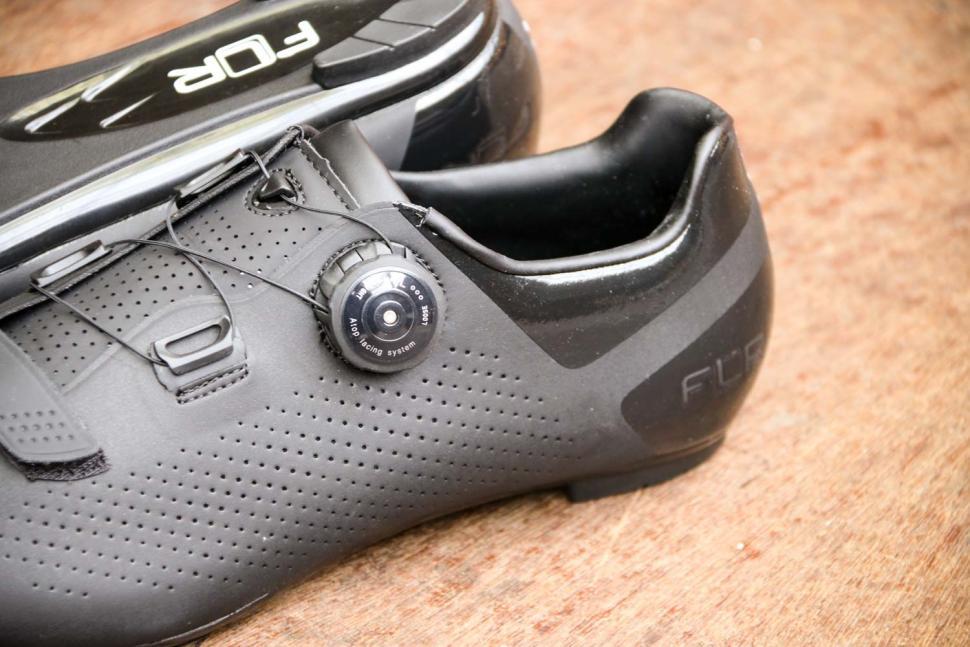 FLR F-11 Pro Road Race Shoe in Black - side detail.jpg