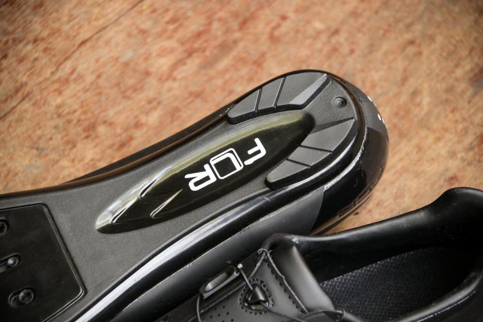 FLR F-11 Pro Road Race Shoe in Black - sole heel.jpg