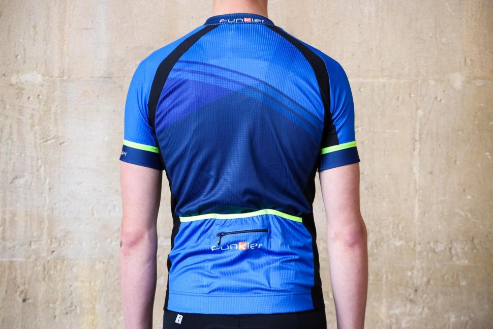 Funkier F-Ride Active Leisure SS Jersey in Blue - back.jpg