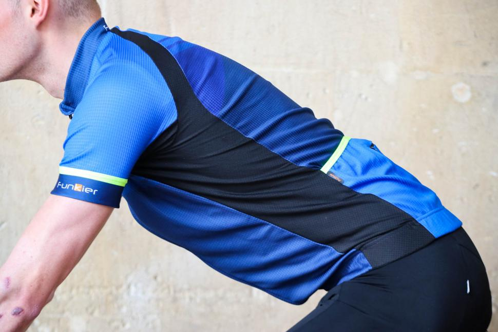 Funkier F-Ride Active Leisure SS Jersey in Blue - riding.jpg