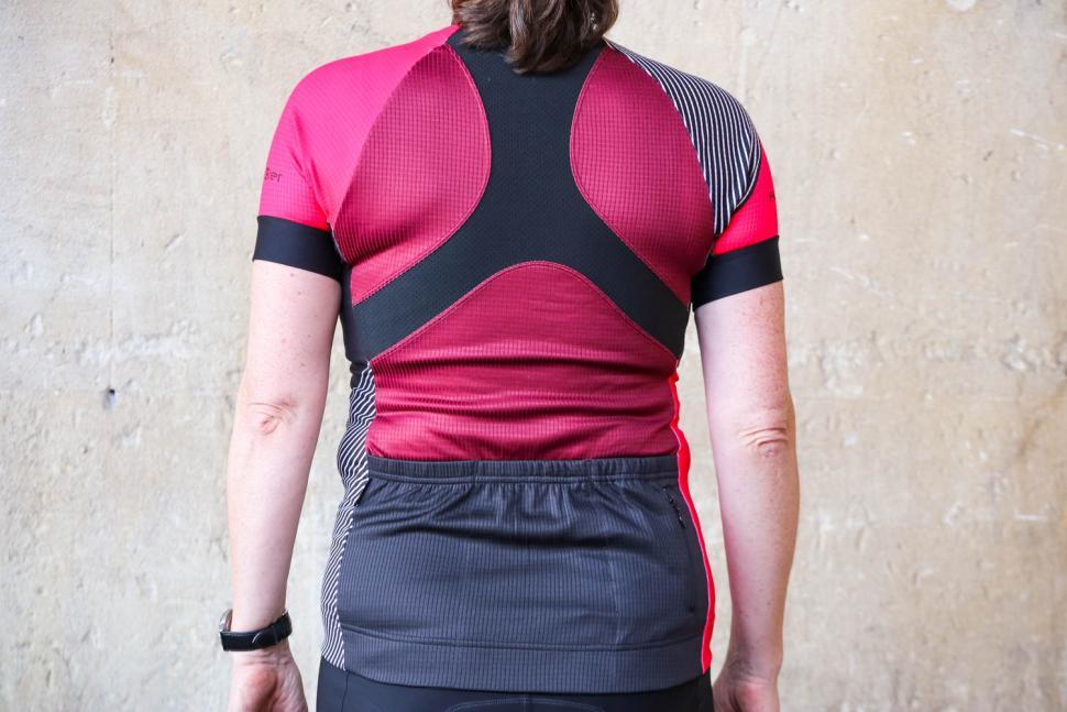 Funkier Mataro Pro Ladies Rider Short Sleeve Jersey in Merlot - back.jpg