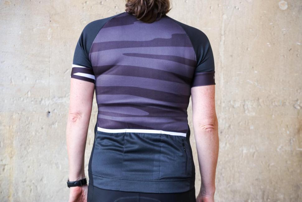 Funkier Prima Pro Ladies Short Sleeve Jersey in Black-Wave - back.jpg