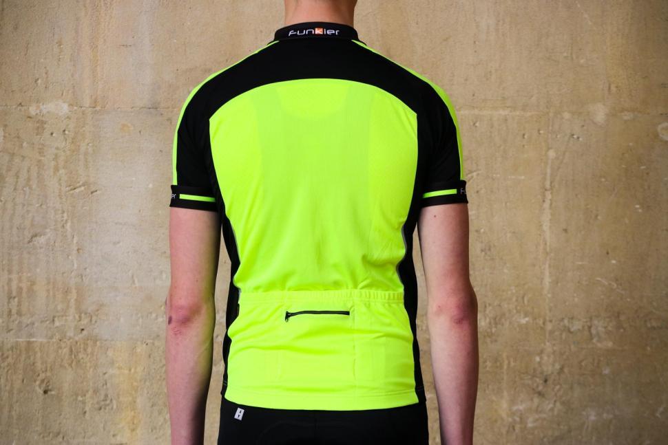Funkier Stream Gents Short Sleeve Active Jersey in Yellow - back.jpg