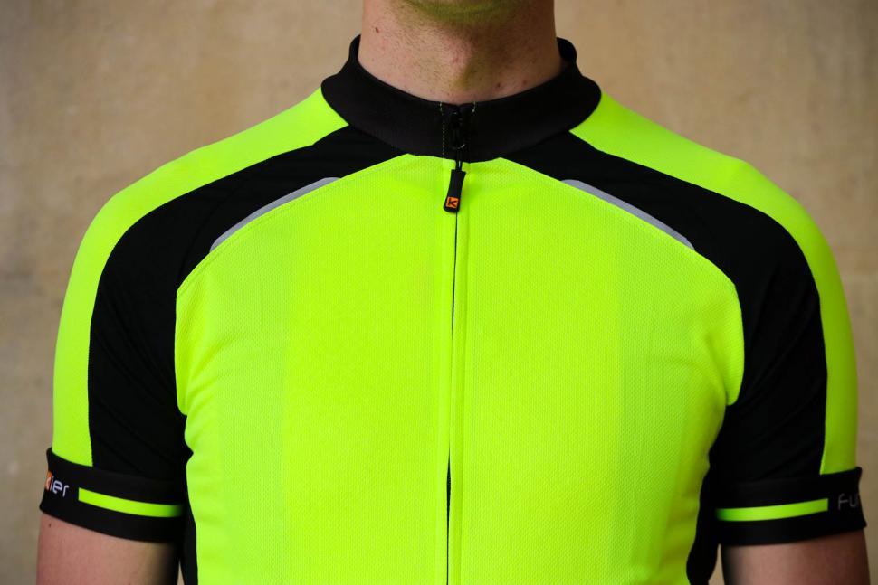 Funkier Stream Gents Short Sleeve Active Jersey in Yellow - chest.jpg