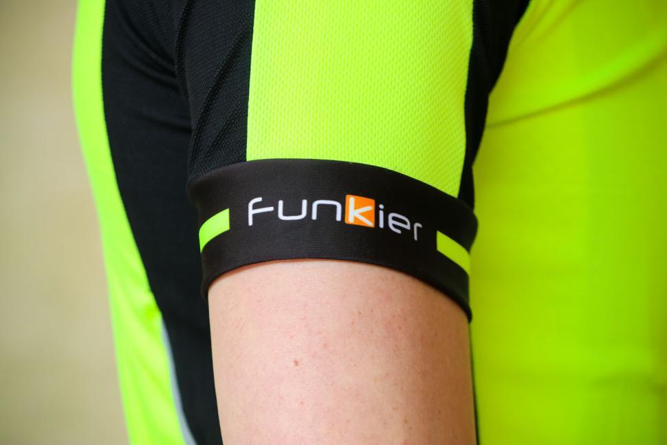 Funkier Stream Gents Short Sleeve Active Jersey in Yellow - sleeve logo.jpg