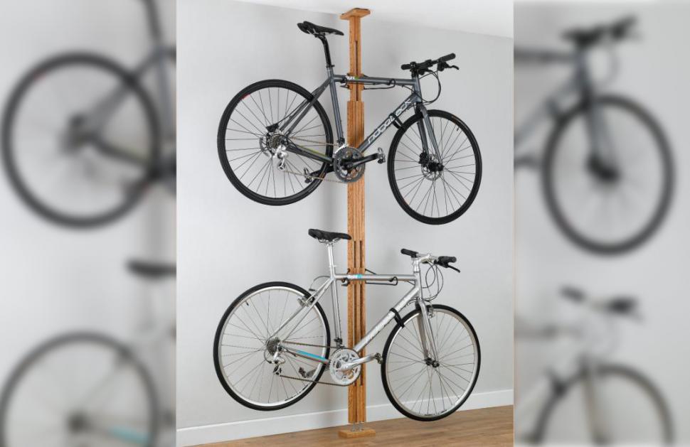 Ceiling Bike Rack >> Review Gearup Oakrak Floor To Ceiling 2 To 4 Bike Rack Road Cc