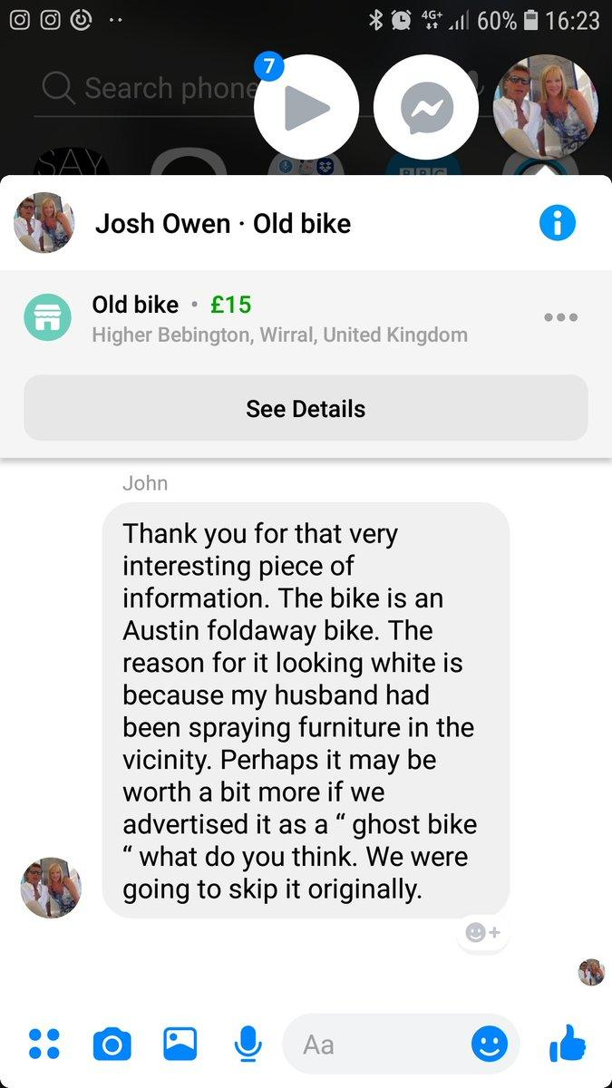 Ghost bike for sale on Facebook Marketplace?