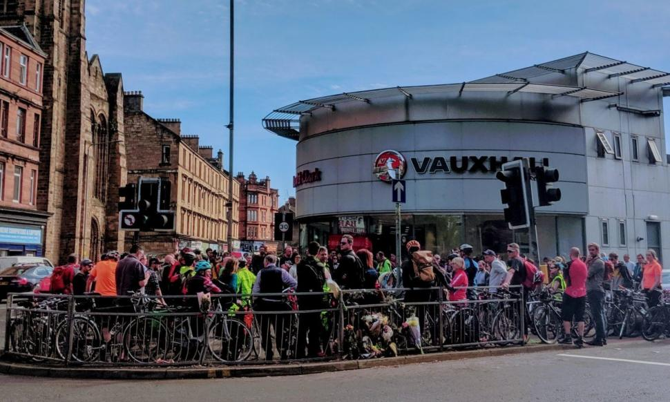 Glasgow Vigil (picture credit GoBike)