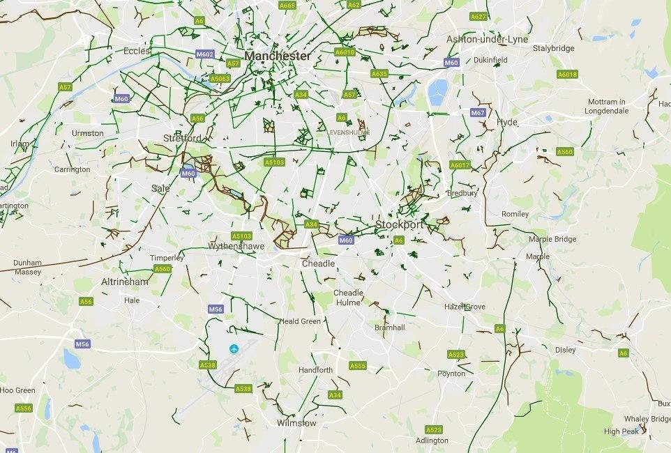 Google Maps cyclist infrastructure layer flagged as search engine ...