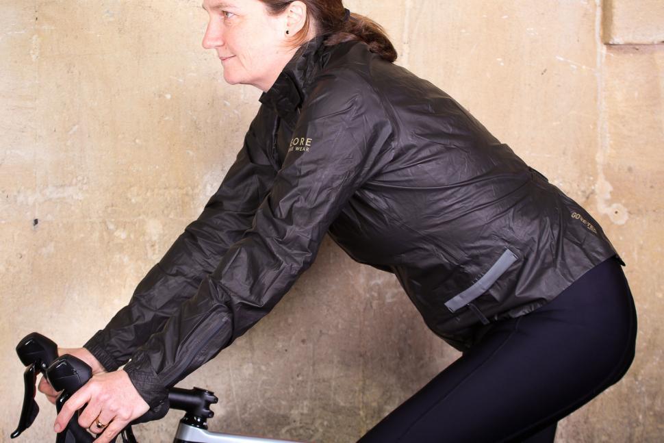 Gore One Power Lady GTX Shakedry Bike Jacket - riding.jpg