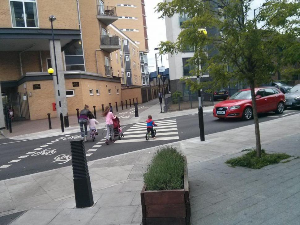 Hackney bike and pedestrian crossing. pic by Laura Laker