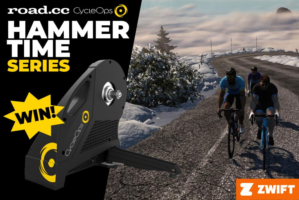 Join us on Sunday on Zwift for our final CycleOps Hammer