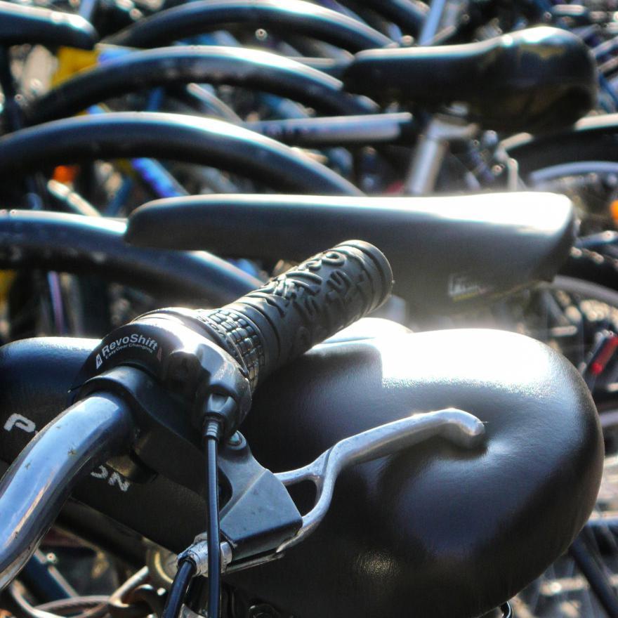 Handlebar and brake lever (copyright Simon MacMichael)