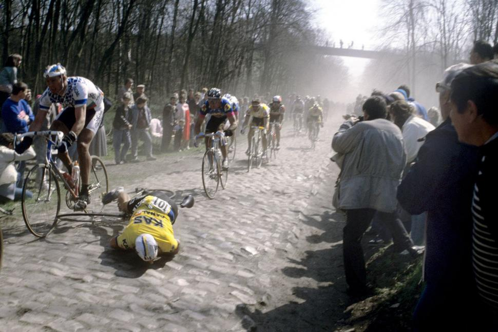 The Hardmen - Copyright -Alfred Achermann Paris-Roubaix 1988 crash HR.jpg.jpg