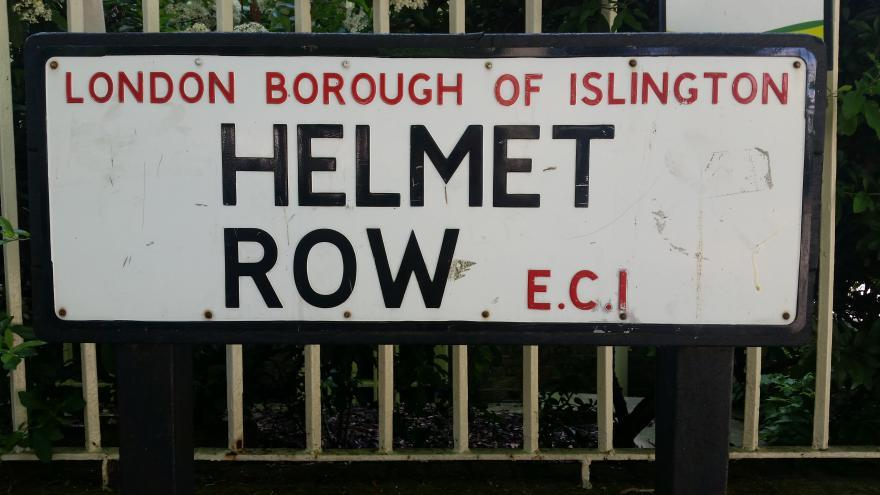 Helmet Row (picture copyright Simon MacMichael)