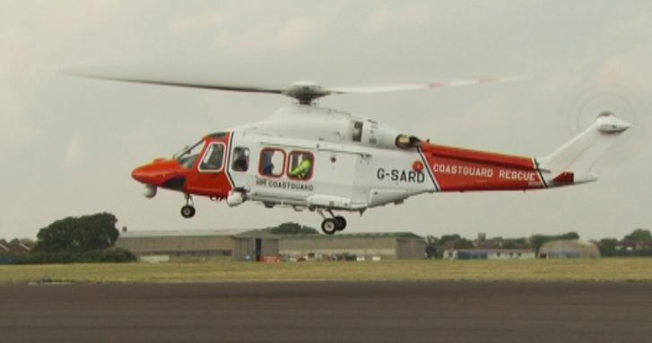 HM Coastguard helicopter via DfT on Flickr