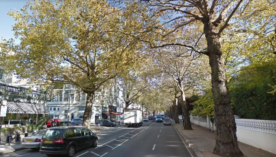 Holland Park Avenue (via StreetView)