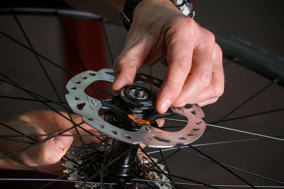 Bike Rotor Adaptor Screws Bolts Red