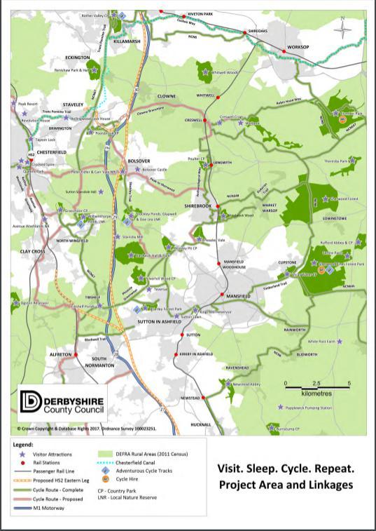HS2 links map Derbyshire cycle tourism