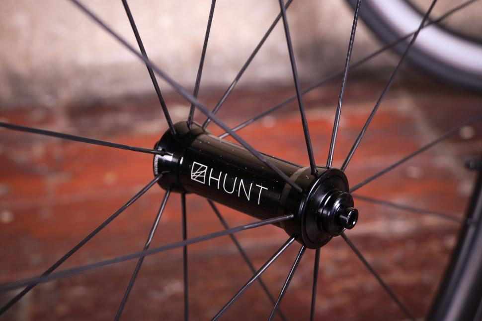 Hunt 3650 Carbon Wide Aero Road Wheelset - front hub.jpg