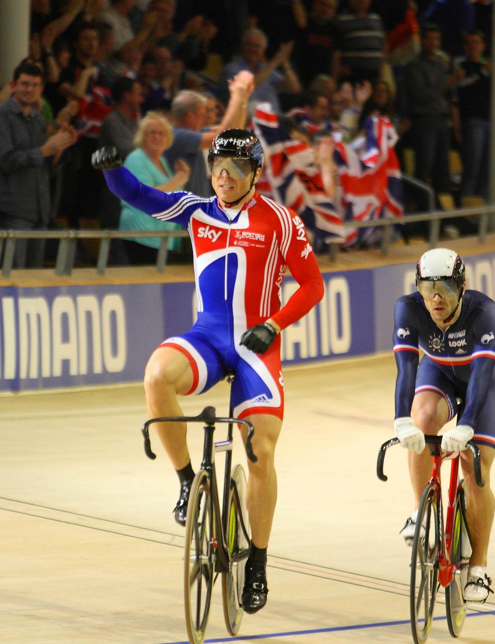 Chris Hoy wins the Keirin, World Track Champs 2010