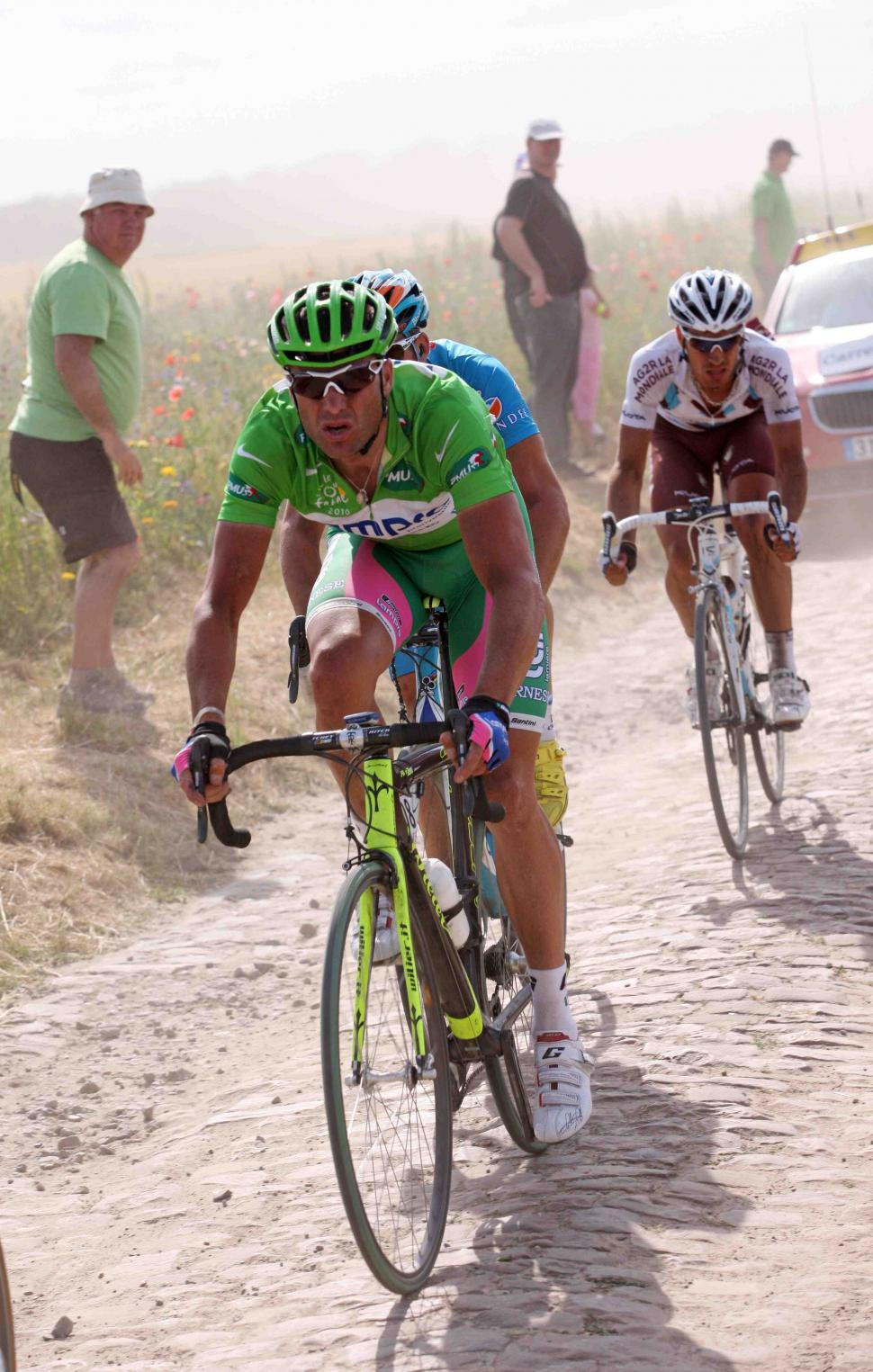 Alessandro Petacchi in the Tour de France green jersey © PhotoSport International.jpg