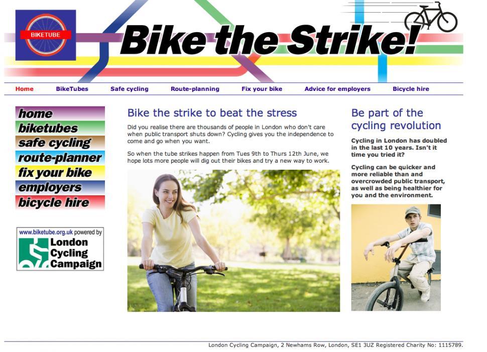 Biketube homepage