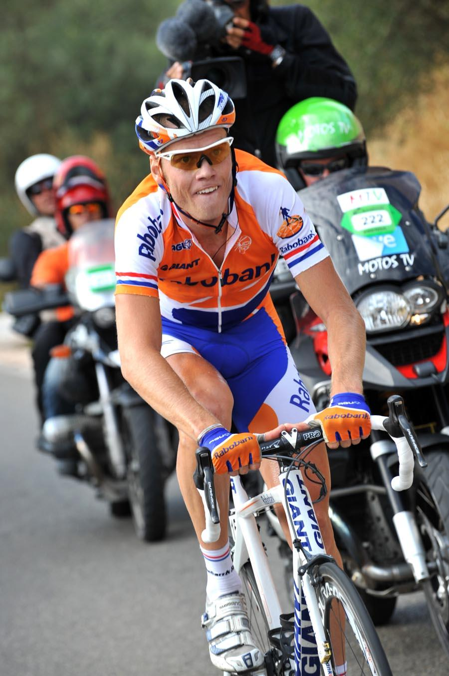 Lars Boom on his way to winning Stage 15 of the 2009 Vuelta © Unipublic