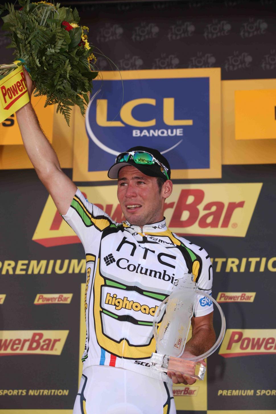 Mark Cavendish on Tour de France Podium 2010 © PhotoSport International.jpg