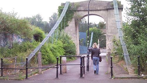 Bath bridge barrier: broken