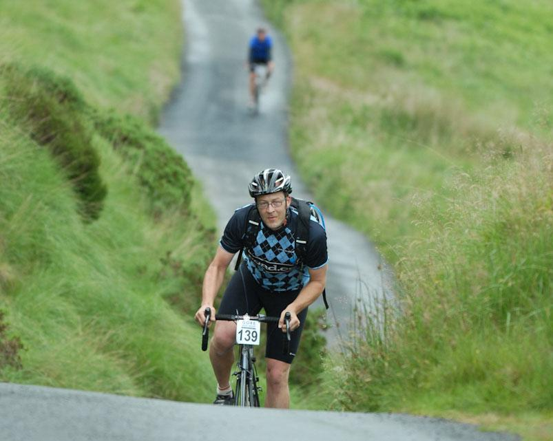 Gore sportive Llanwrtyd Wells dave on climb