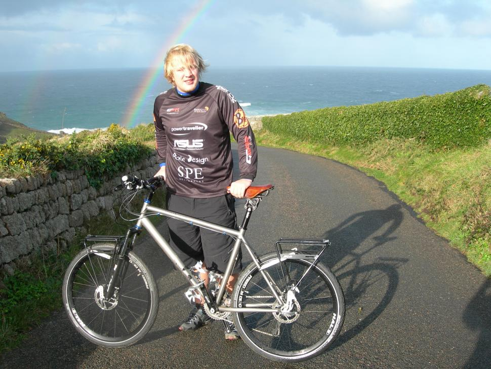 Sean Maher under the rainbow