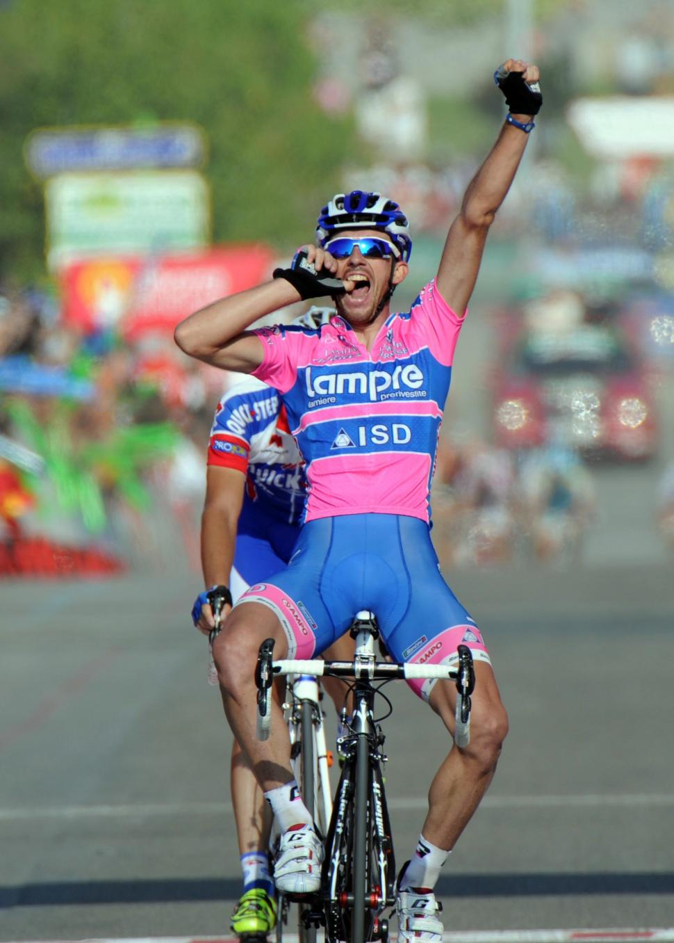 Francesco Gavazzi wins Stage 18 of the 2011 Vuelta (copyright: Tour of Spain/Graham Watson).jpg